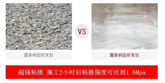 抢修宝BC混凝土修补料引领路面包包微表处理2019表春红水泥情要节图片
